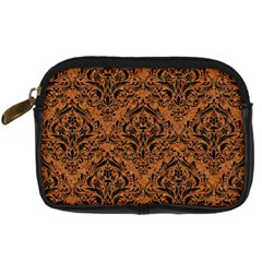 DAMASK1 BLACK MARBLE & RUSTED METAL Digital Camera Cases