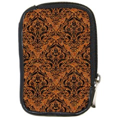 DAMASK1 BLACK MARBLE & RUSTED METAL Compact Camera Cases