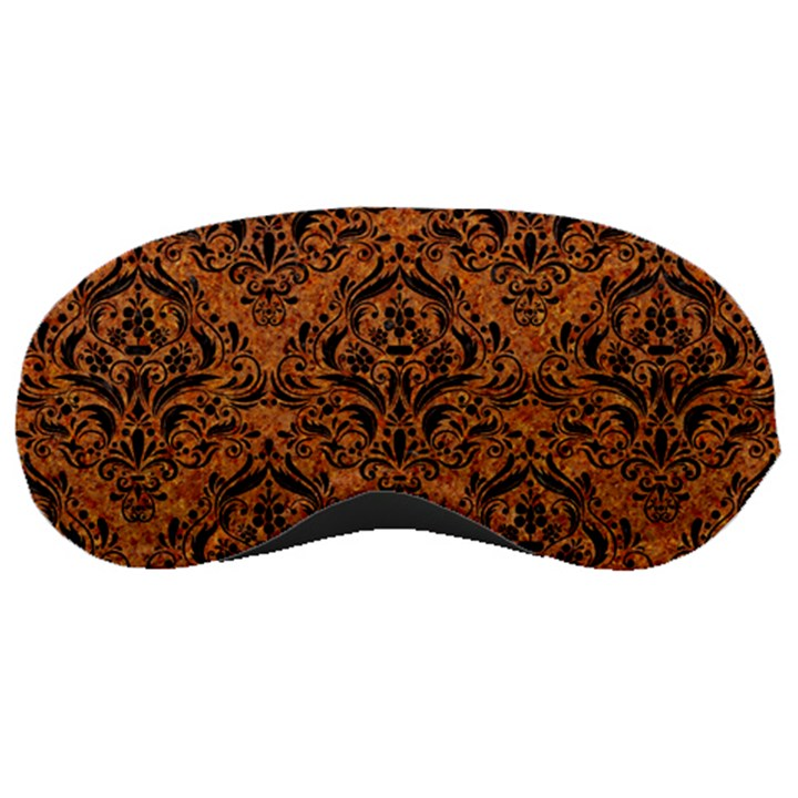 DAMASK1 BLACK MARBLE & RUSTED METAL Sleeping Masks