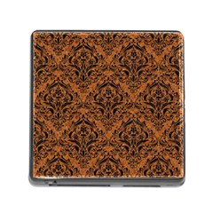 DAMASK1 BLACK MARBLE & RUSTED METAL Memory Card Reader (Square)