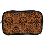 DAMASK1 BLACK MARBLE & RUSTED METAL Toiletries Bags 2-Side Back