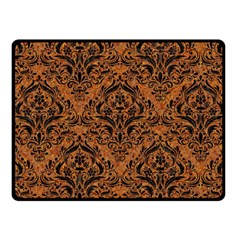 Damask1 Black Marble & Rusted Metal Fleece Blanket (small) by trendistuff