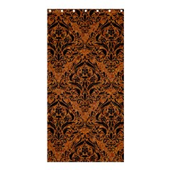 DAMASK1 BLACK MARBLE & RUSTED METAL Shower Curtain 36  x 72  (Stall)