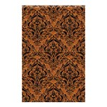 DAMASK1 BLACK MARBLE & RUSTED METAL Shower Curtain 48  x 72  (Small)  42.18 x64.8 Curtain
