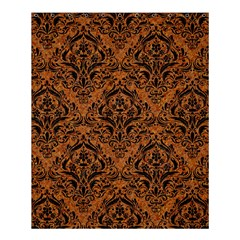 DAMASK1 BLACK MARBLE & RUSTED METAL Shower Curtain 60  x 72  (Medium)