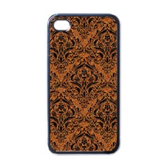 DAMASK1 BLACK MARBLE & RUSTED METAL Apple iPhone 4 Case (Black)