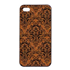DAMASK1 BLACK MARBLE & RUSTED METAL Apple iPhone 4/4s Seamless Case (Black)
