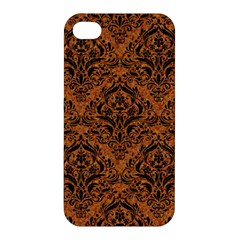 DAMASK1 BLACK MARBLE & RUSTED METAL Apple iPhone 4/4S Hardshell Case