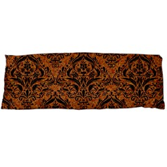 Damask1 Black Marble & Rusted Metal Body Pillow Case Dakimakura (two Sides) by trendistuff