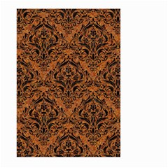 Damask1 Black Marble & Rusted Metal Large Garden Flag (two Sides) by trendistuff