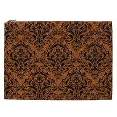 DAMASK1 BLACK MARBLE & RUSTED METAL Cosmetic Bag (XXL)