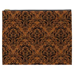 DAMASK1 BLACK MARBLE & RUSTED METAL Cosmetic Bag (XXXL)