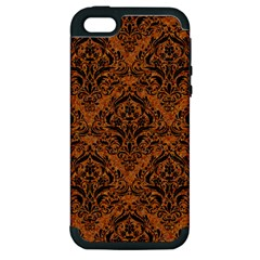 DAMASK1 BLACK MARBLE & RUSTED METAL Apple iPhone 5 Hardshell Case (PC+Silicone)