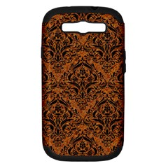 DAMASK1 BLACK MARBLE & RUSTED METAL Samsung Galaxy S III Hardshell Case (PC+Silicone)
