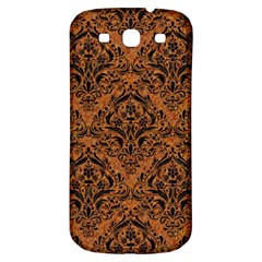 DAMASK1 BLACK MARBLE & RUSTED METAL Samsung Galaxy S3 S III Classic Hardshell Back Case