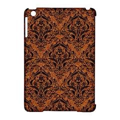 DAMASK1 BLACK MARBLE & RUSTED METAL Apple iPad Mini Hardshell Case (Compatible with Smart Cover)