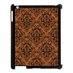 Damask1 Black Marble & Rusted Metal Apple Ipad 3/4 Case (black) by trendistuff