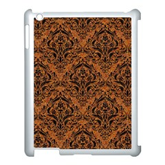 DAMASK1 BLACK MARBLE & RUSTED METAL Apple iPad 3/4 Case (White)