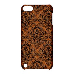 DAMASK1 BLACK MARBLE & RUSTED METAL Apple iPod Touch 5 Hardshell Case with Stand