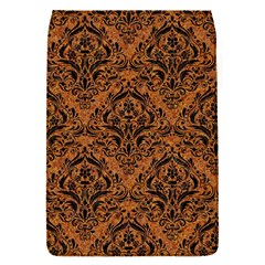 DAMASK1 BLACK MARBLE & RUSTED METAL Flap Covers (S)