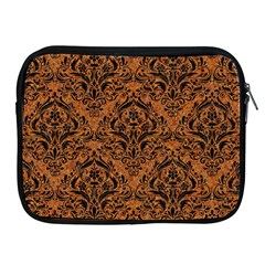 DAMASK1 BLACK MARBLE & RUSTED METAL Apple iPad 2/3/4 Zipper Cases