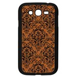 DAMASK1 BLACK MARBLE & RUSTED METAL Samsung Galaxy Grand DUOS I9082 Case (Black) Front