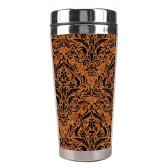 DAMASK1 BLACK MARBLE & RUSTED METAL Stainless Steel Travel Tumblers