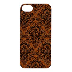 DAMASK1 BLACK MARBLE & RUSTED METAL Apple iPhone 5S/ SE Hardshell Case