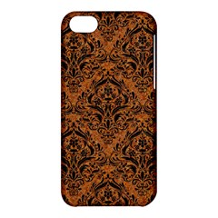 DAMASK1 BLACK MARBLE & RUSTED METAL Apple iPhone 5C Hardshell Case