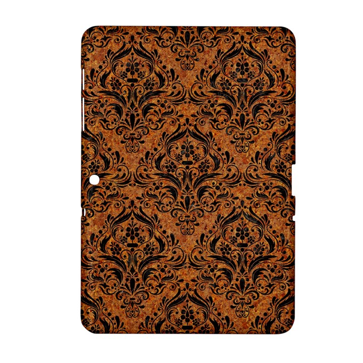 DAMASK1 BLACK MARBLE & RUSTED METAL Samsung Galaxy Tab 2 (10.1 ) P5100 Hardshell Case