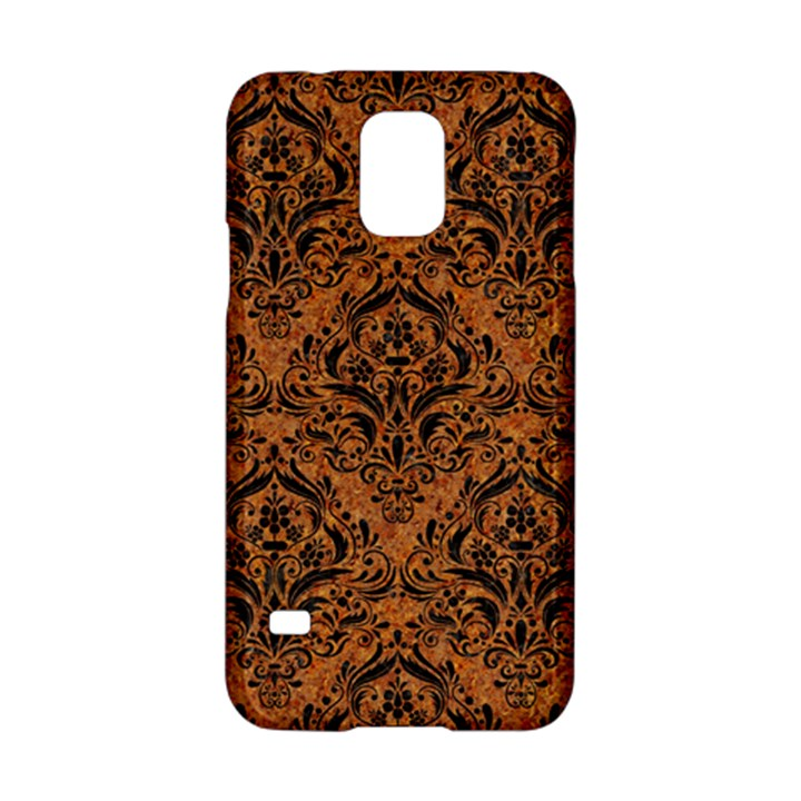 DAMASK1 BLACK MARBLE & RUSTED METAL Samsung Galaxy S5 Hardshell Case