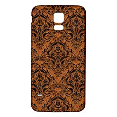 DAMASK1 BLACK MARBLE & RUSTED METAL Samsung Galaxy S5 Back Case (White)