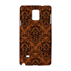 DAMASK1 BLACK MARBLE & RUSTED METAL Samsung Galaxy Note 4 Hardshell Case