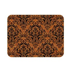 Damask1 Black Marble & Rusted Metal Double Sided Flano Blanket (mini)  by trendistuff