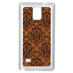 DAMASK1 BLACK MARBLE & RUSTED METAL Samsung Galaxy Note 4 Case (White)