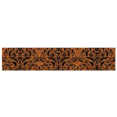DAMASK1 BLACK MARBLE & RUSTED METAL Flano Scarf (Small)