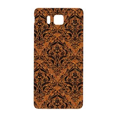 DAMASK1 BLACK MARBLE & RUSTED METAL Samsung Galaxy Alpha Hardshell Back Case