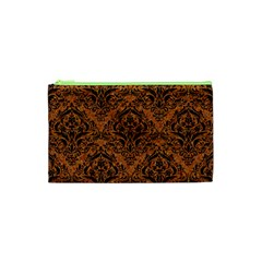 DAMASK1 BLACK MARBLE & RUSTED METAL Cosmetic Bag (XS)