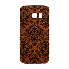 DAMASK1 BLACK MARBLE & RUSTED METAL Galaxy S6 Edge