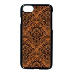 DAMASK1 BLACK MARBLE & RUSTED METAL Apple iPhone 7 Seamless Case (Black) Front