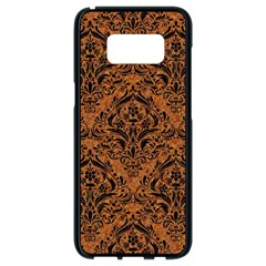 DAMASK1 BLACK MARBLE & RUSTED METAL Samsung Galaxy S8 Black Seamless Case