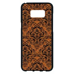 DAMASK1 BLACK MARBLE & RUSTED METAL Samsung Galaxy S8 Plus Black Seamless Case