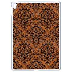 DAMASK1 BLACK MARBLE & RUSTED METAL Apple iPad Pro 9.7   White Seamless Case
