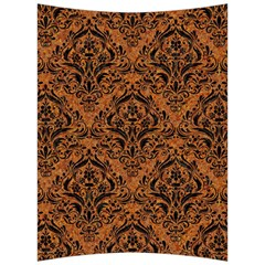 DAMASK1 BLACK MARBLE & RUSTED METAL Back Support Cushion