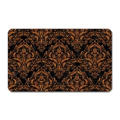 DAMASK1 BLACK MARBLE & RUSTED METAL (R) Magnet (Rectangular)