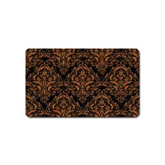 DAMASK1 BLACK MARBLE & RUSTED METAL (R) Magnet (Name Card)