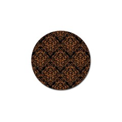 DAMASK1 BLACK MARBLE & RUSTED METAL (R) Golf Ball Marker