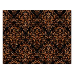 DAMASK1 BLACK MARBLE & RUSTED METAL (R) Rectangular Jigsaw Puzzl