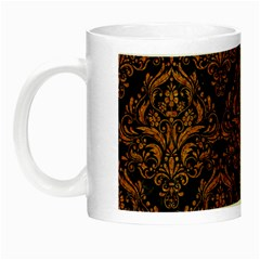 DAMASK1 BLACK MARBLE & RUSTED METAL (R) Night Luminous Mugs