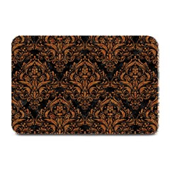 DAMASK1 BLACK MARBLE & RUSTED METAL (R) Plate Mats